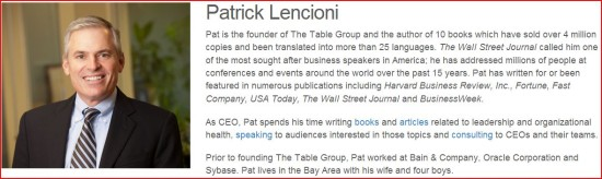 Pat Lencioni + The Table Group
