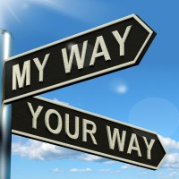Negotiations - My Or Your Way Signpost